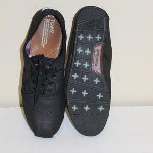 Toms Men size 10.5 Lace up charcoal black